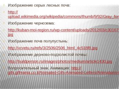 Изображение серых лесных почв: http://upload.wikimedia.org/wikipedia/commons/...