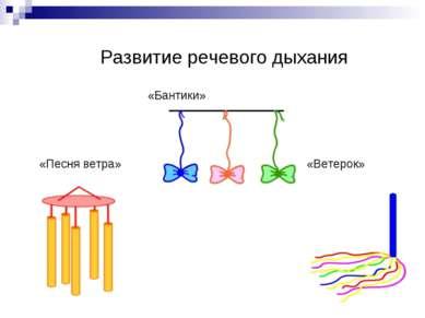 Развитие речевого дыхания «Бантики» «Песня ветра» «Ветерок»