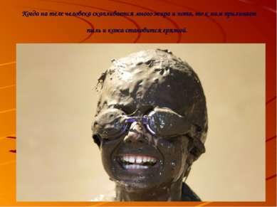 Когда на теле человека скапливается много жира и пота, то к ним прилипает пыл...