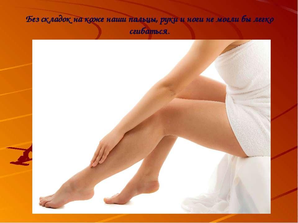 Без складок на коже наши пальцы, руки и ноги не могли бы легко сгибаться.