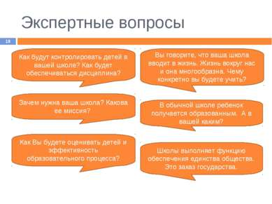 Экспертные вопросы * Как будут контролировать детей в вашей школе? Как будет ...
