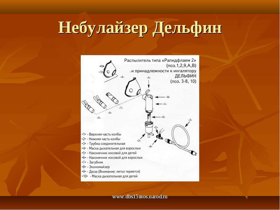 www.dbs15mos.narod.ru Небулайзер Дельфин www.dbs15mos.narod.ru