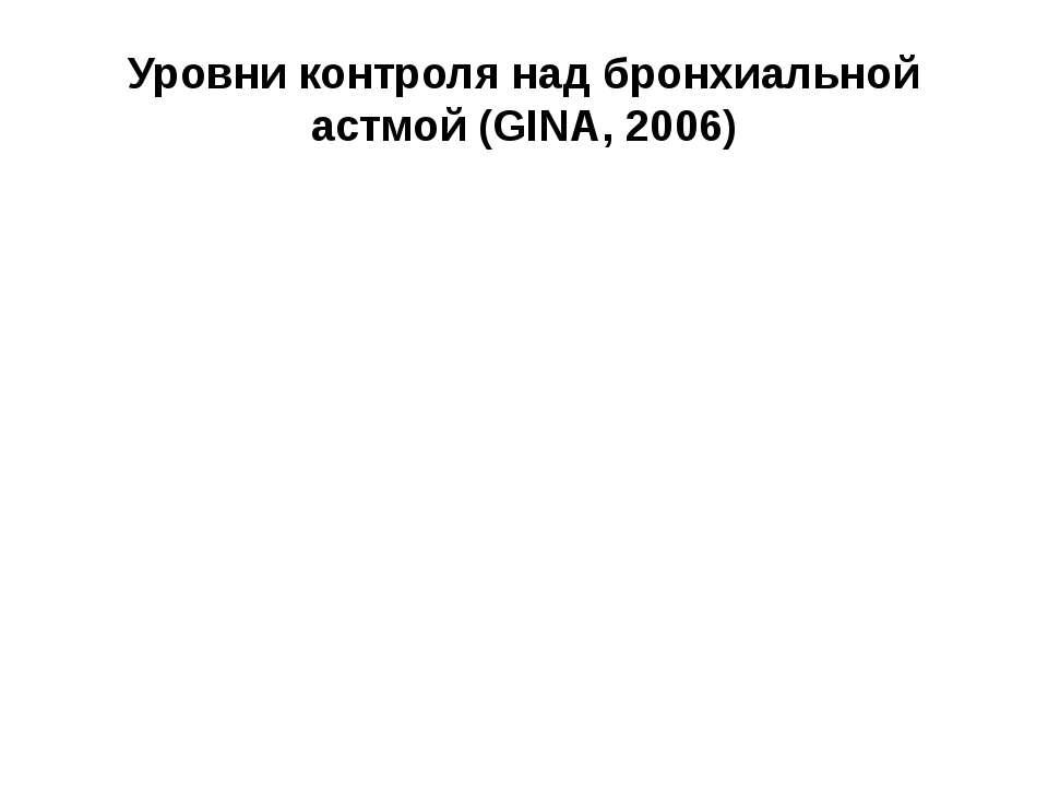 www.dbs15mos.narod.ru Уровни контроля над бронхиальной астмой (GINA, 2006) Ха...