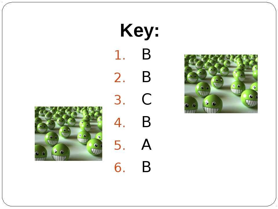 Key: B B C B A B