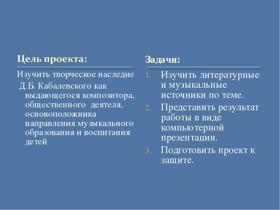 Изучить творческое наследие Д.Б. Кабалевского как выдающегося композитора, об...