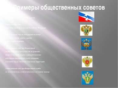 Примеры общественных советов Общественный совет при Федеральном агентстве по ...