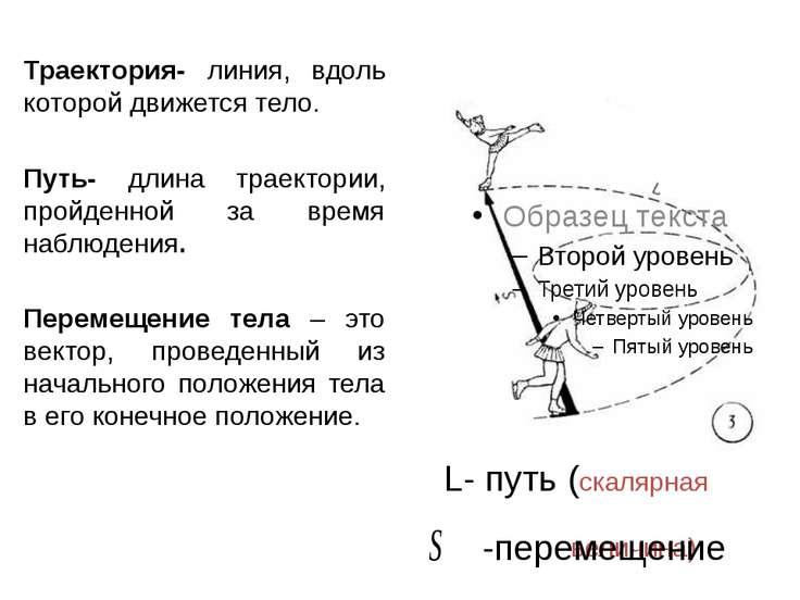Траектория- линия, вдоль которой движется тело. Путь- длина траектории, пройд...
