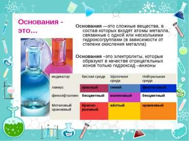 Основания - это… Основания —это сложные вещества, в состав которых входят ато...