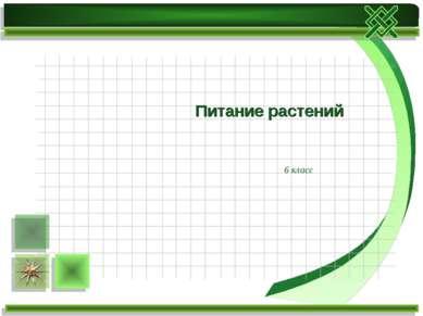 6 класс Питание растений