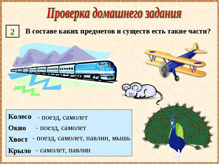 Колесо Окно Хвост Крыло - поезд, самолет - поезд, самолет, павлин, мышь - сам...