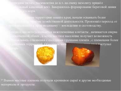 В середине пятого тысячилетия до н.э. на смену мезолиту пришёл неолит(новый к...