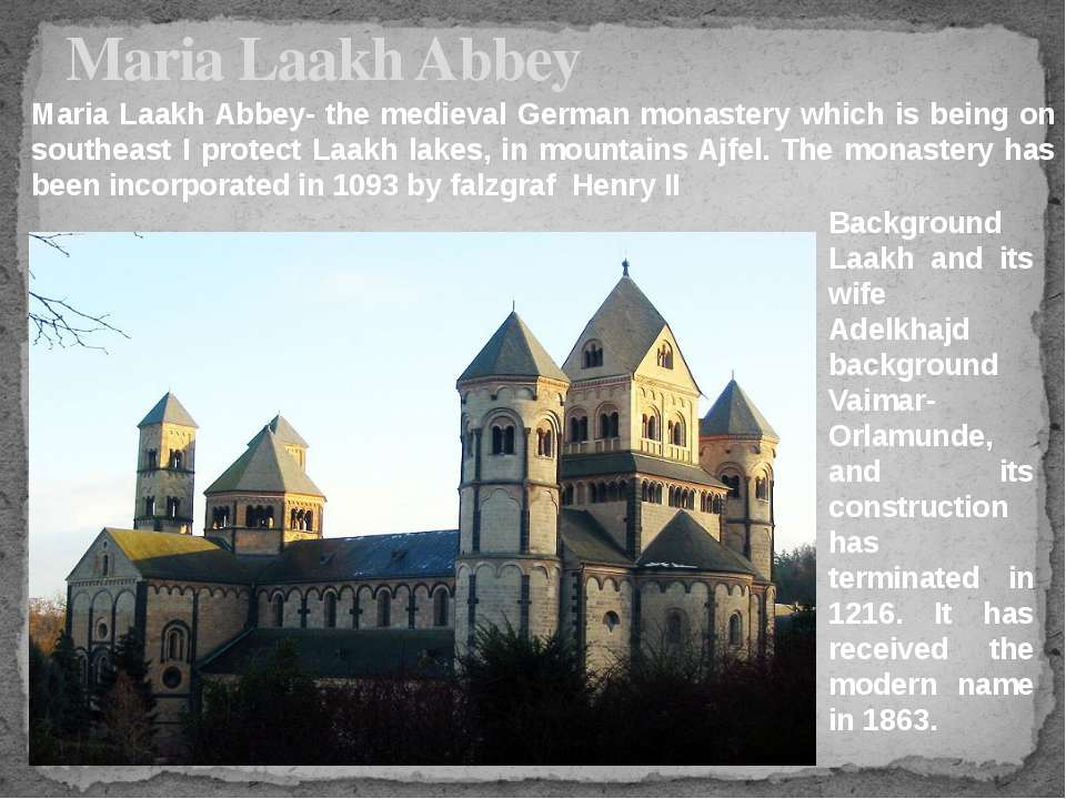 Maria Laakh Abbey Background Laakh and its wife Adelkhajd background Vaimar-O...
