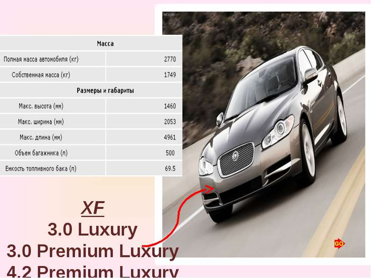 XF 3.0 Luxury 3.0 Premium Luxury 4.2 Premium Luxury 4.2 Super V8