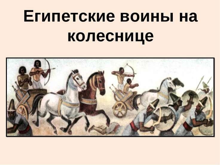 Египетские воины на колеснице