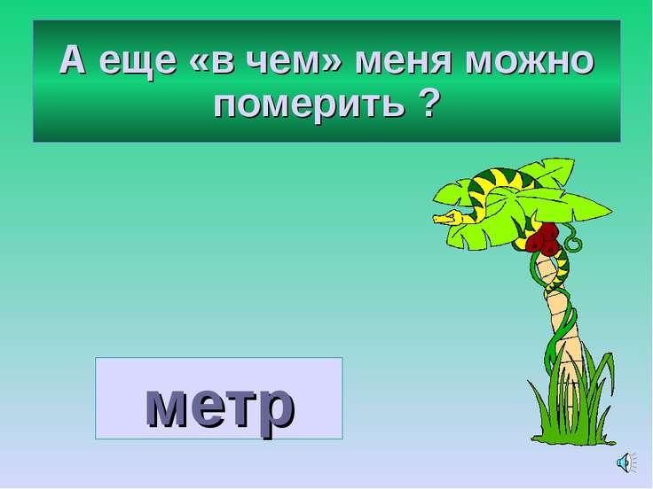 А еще «в чем» меня можно померить ? метр