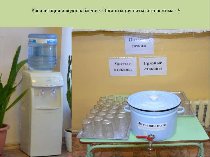 Канализация и водоснабжение. Организация питьевого режима - 5