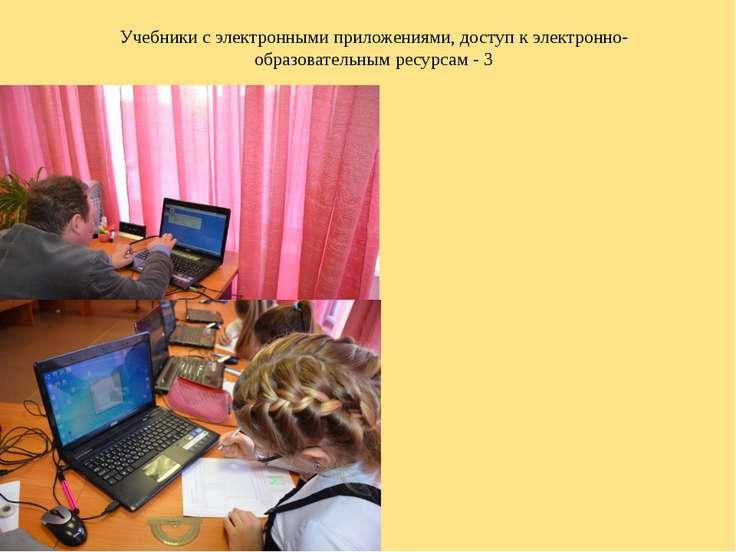 Учебники с электронными приложениями, доступ к электронно-образовательным рес...