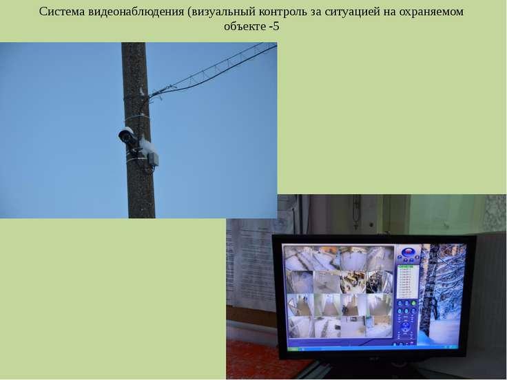 Система видеонаблюдения (визуальный контроль за ситуацией на охраняемом объек...