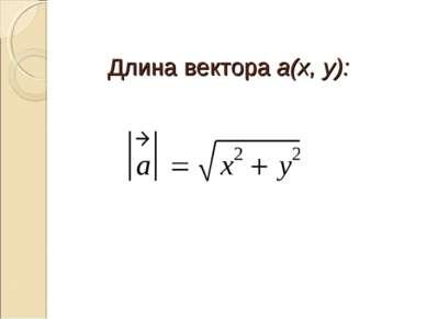 Длина вектора a(x, y):