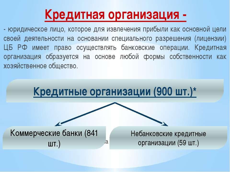 - юридическое лицо, которое для извлечения прибыли как основной цели своей де...