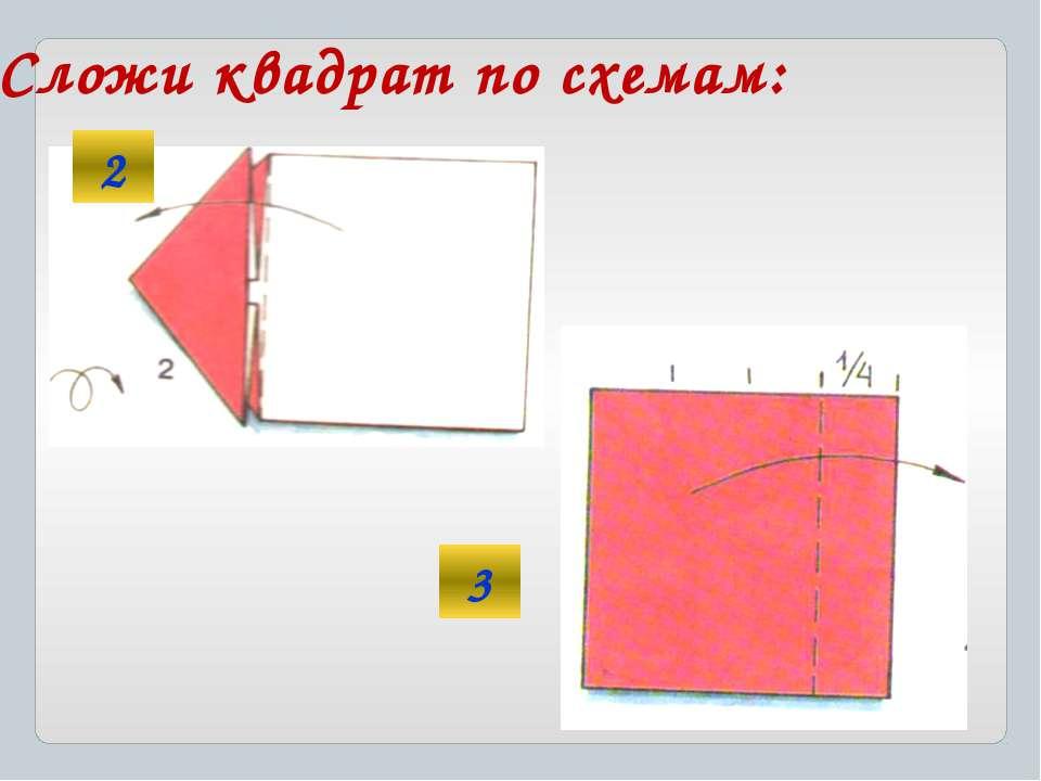 Сложи квадрат по схемам: 2 3