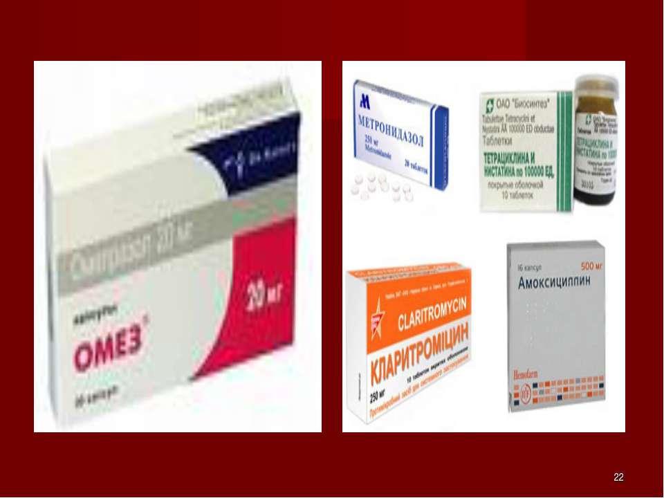 Современные препараты лечения гастрита