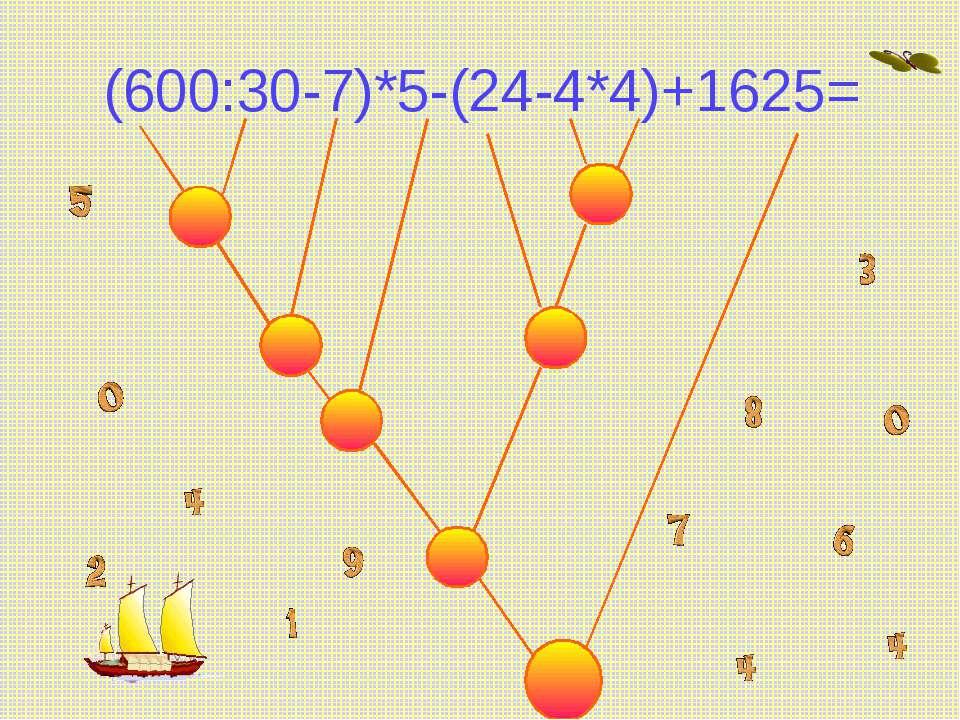 (600:30-7)*5-(24-4*4)+1625=
