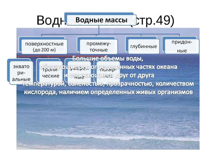 Водные массы (стр.49)