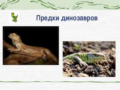 Предки динозавров