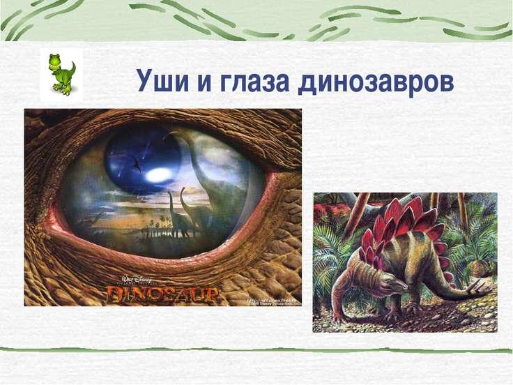 Уши и глаза динозавров